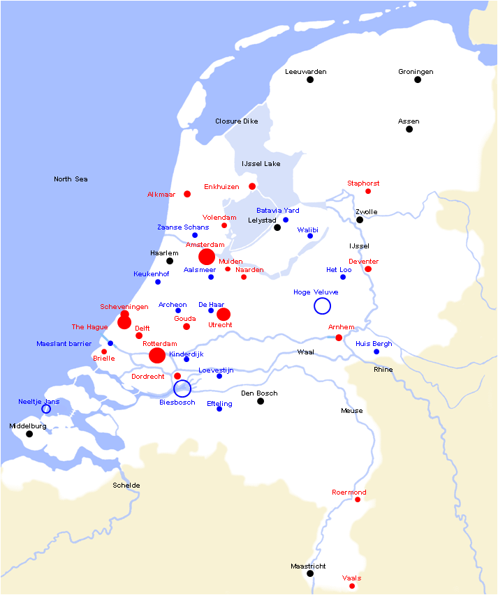 Holland Study Study Tour in the Netherlands Map of Holland